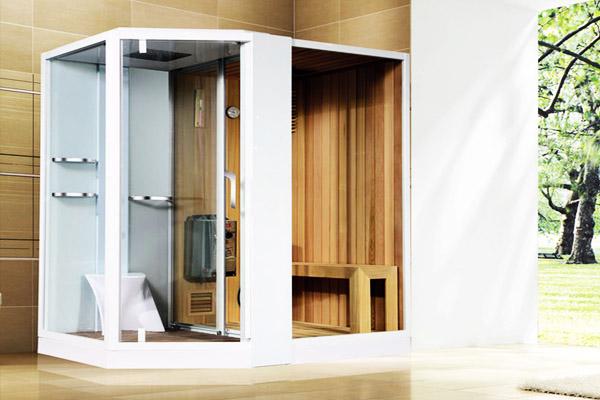 Сауна с душем в ванной